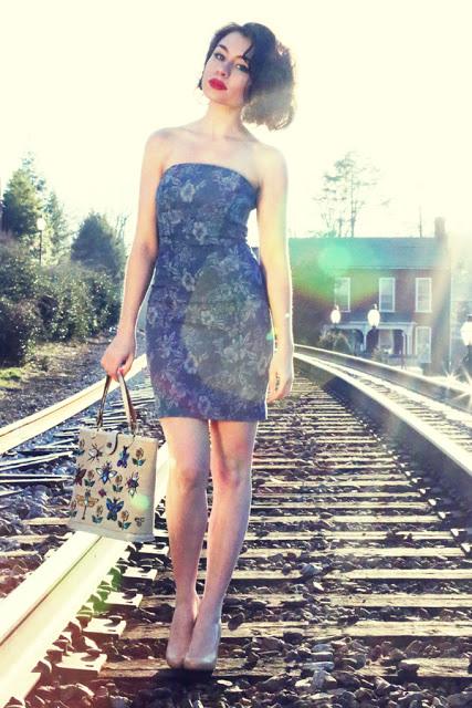 Guess Jeans_dress_model_denim_A LA LADYWOLF_Whitney S Williams