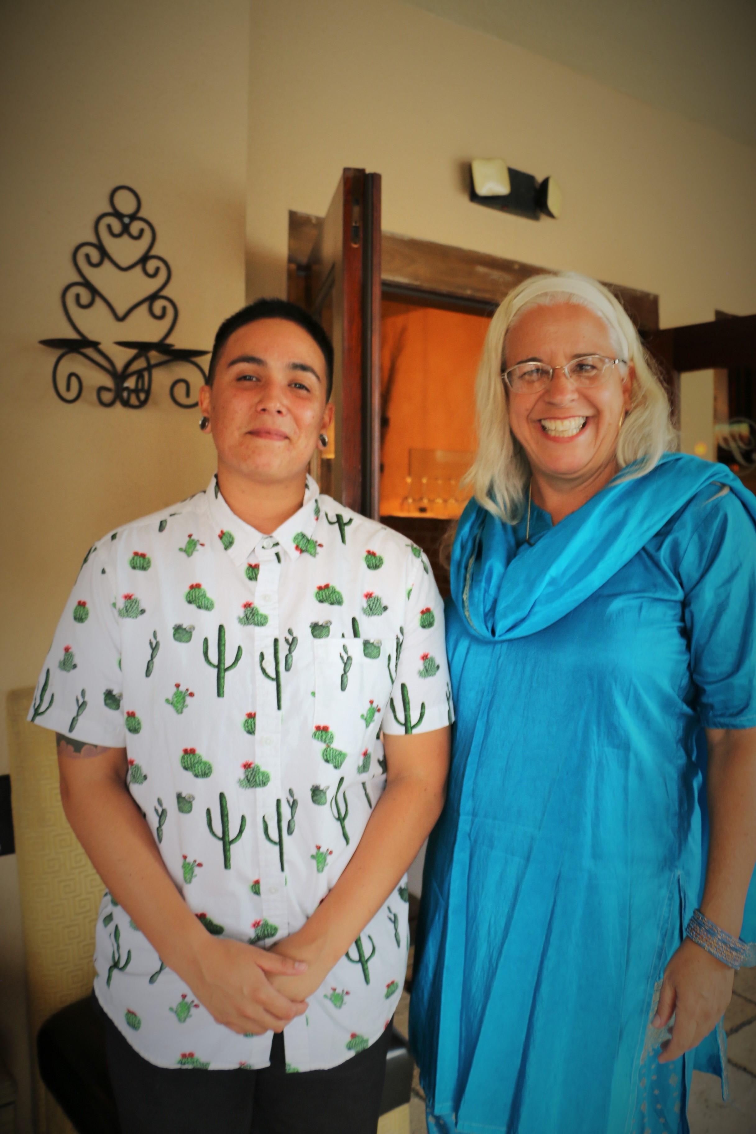 Tiana Vargas-Student and Dr. Doreen Mattingly Co-Chair, SDSU Women's Studies