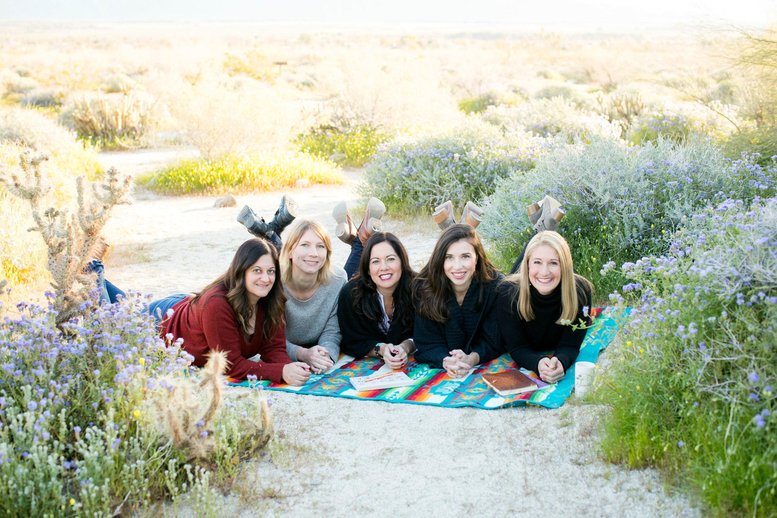 l-r: Nadia Mandilawi, Sarah Cox, Tiana Uribe, Christina Graff-Tovar, Cami Eiskamp