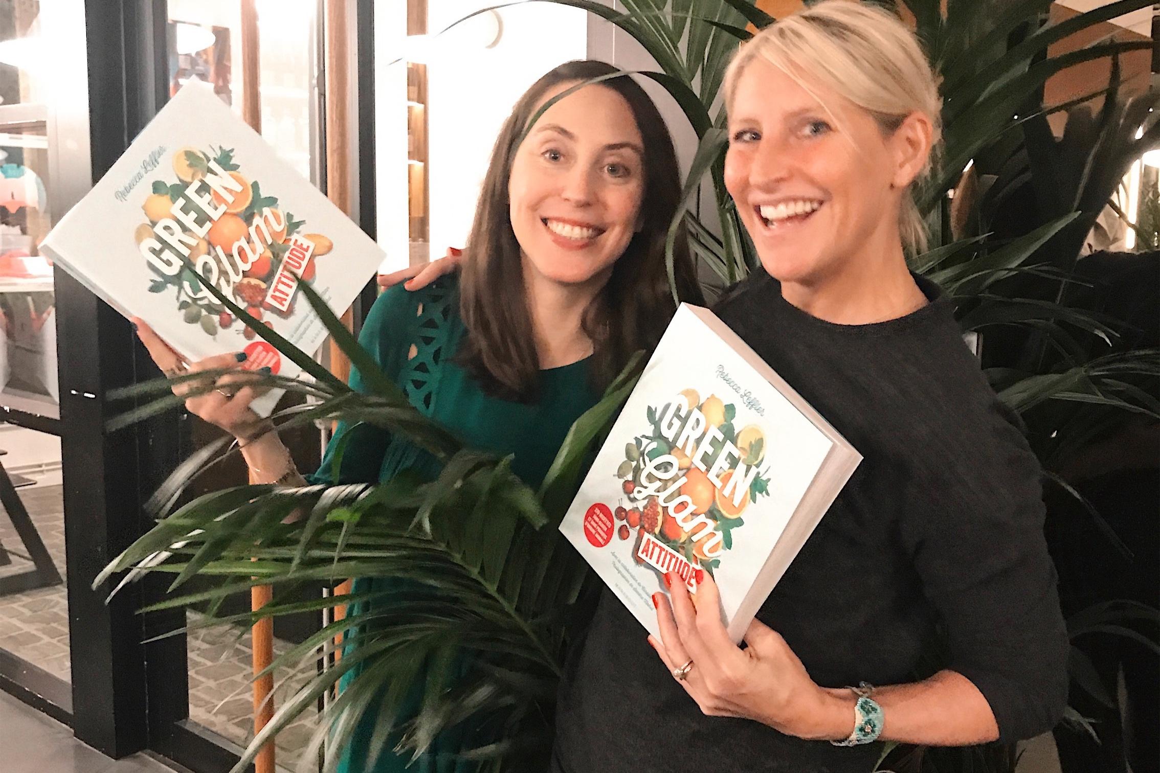 Rebecca Leffler and Susan Oubari at Green Glam book release in Paris, October 2017.