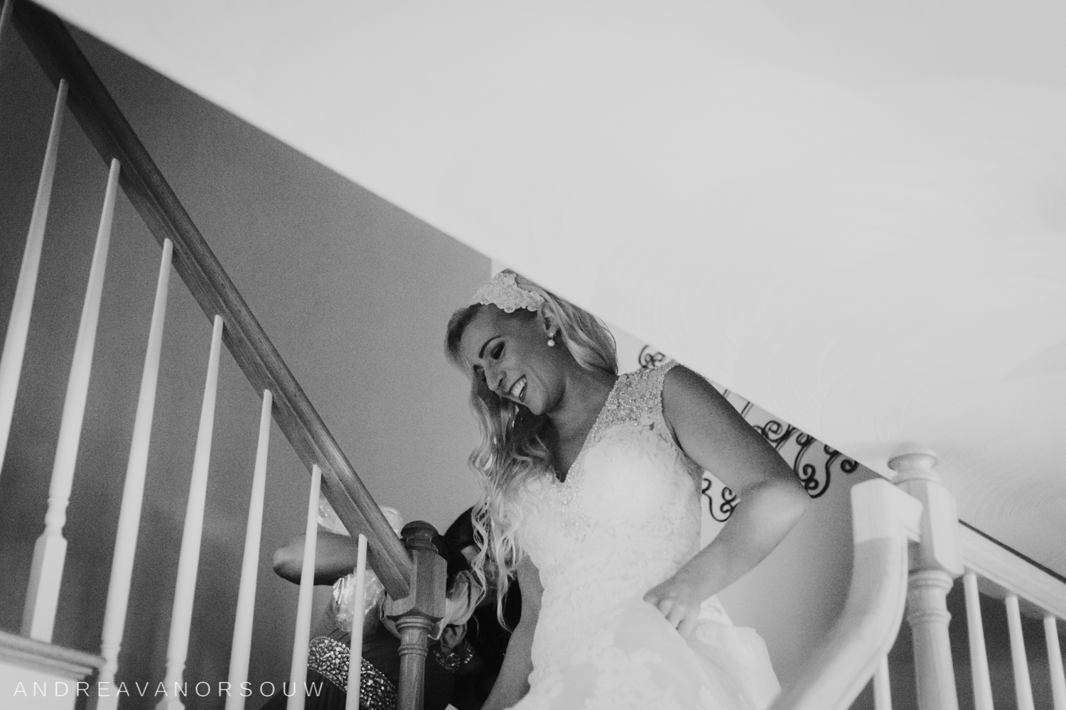 first_look_stairs_getting_ready_kirkbrae_country_club_bride_groom_wedding_rhode_island_lincoln_natural_photography_connecticut_new_england_photographer.jpg