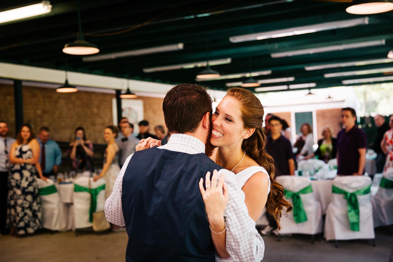 cute-first-dance-bride-smiling-you're-my-best-friend-queen-rehoboth-francis-farm-massachusetts.jpg