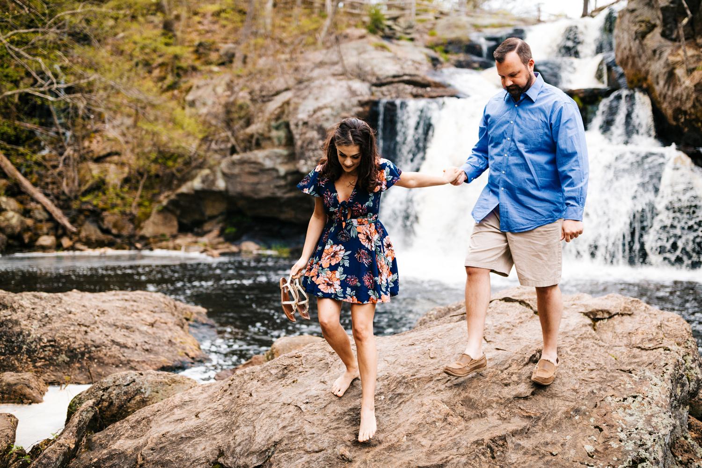 waterfall-fun-engagement-photos-connecticut-devils-hopyard-park-andrea-vanorsouw-photography.jpg