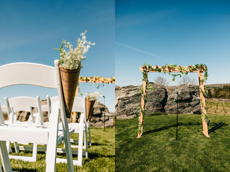 Music themed wedding details in Santa Fe