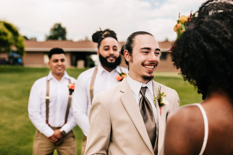 Wedding ceremony vows in Albuquerque, New Mexico