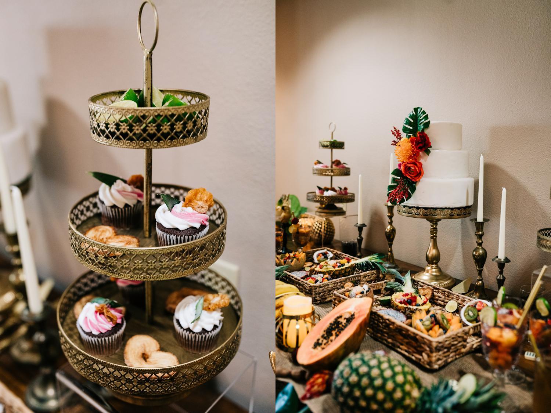 Cupcakes and fruit for Albuquerque, New Mexico wedding