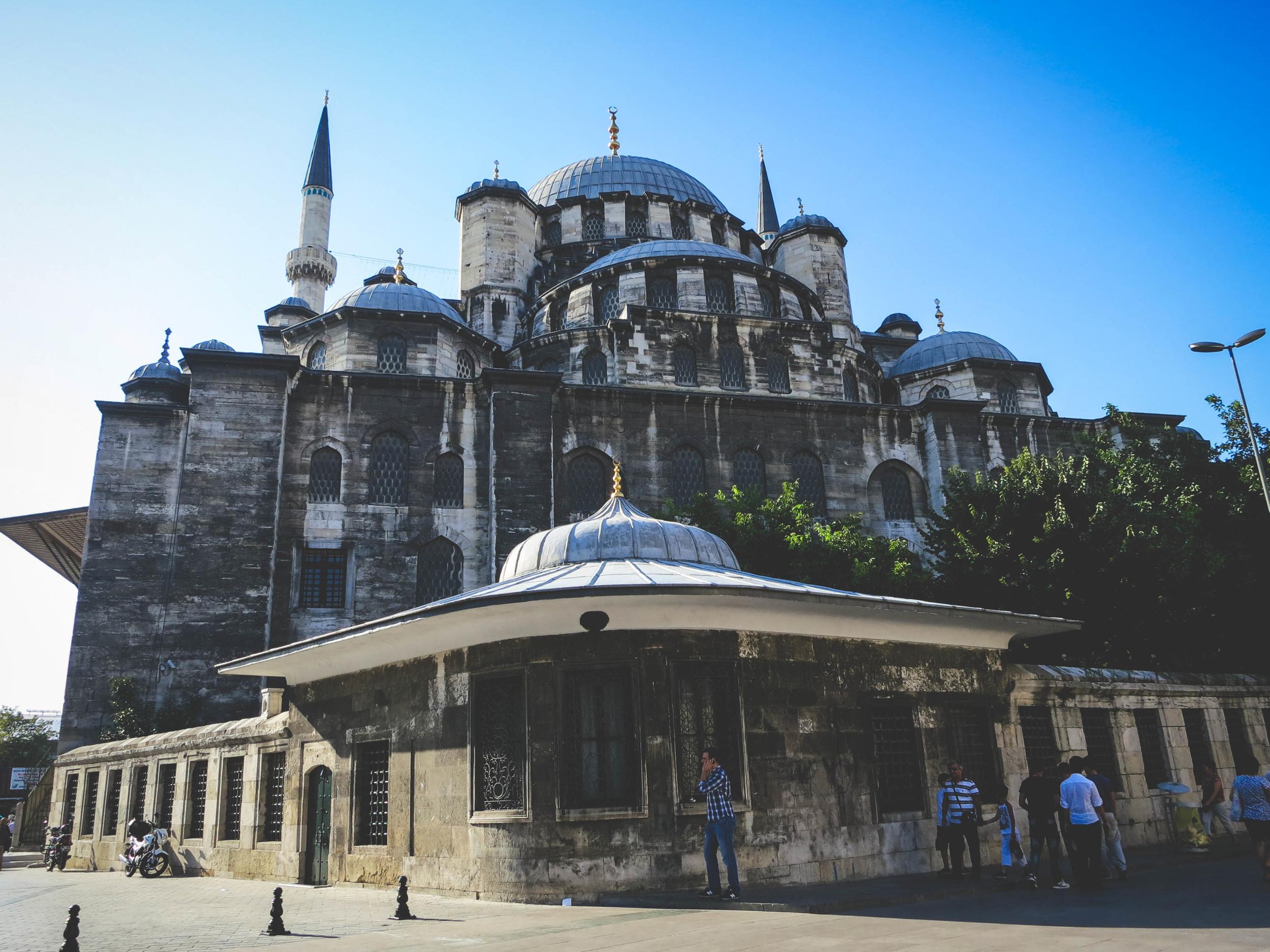 Biserica Sfânta Sofia din Constantinopol (537-1453), fostă moschee (1453-1935), acum muzeu in Istanbul, Turcia