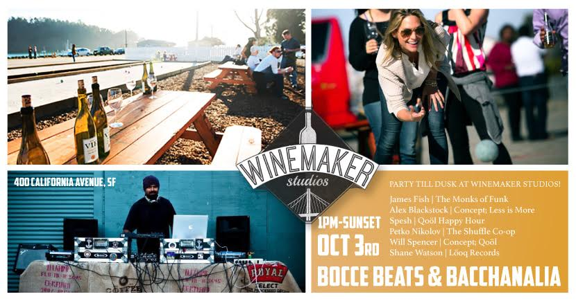Free Day Time Party! Drink Wine and Dance into the Sunset at Winemaker Studios...   CLICK HERE FOR DETAILS AND TO RSVP