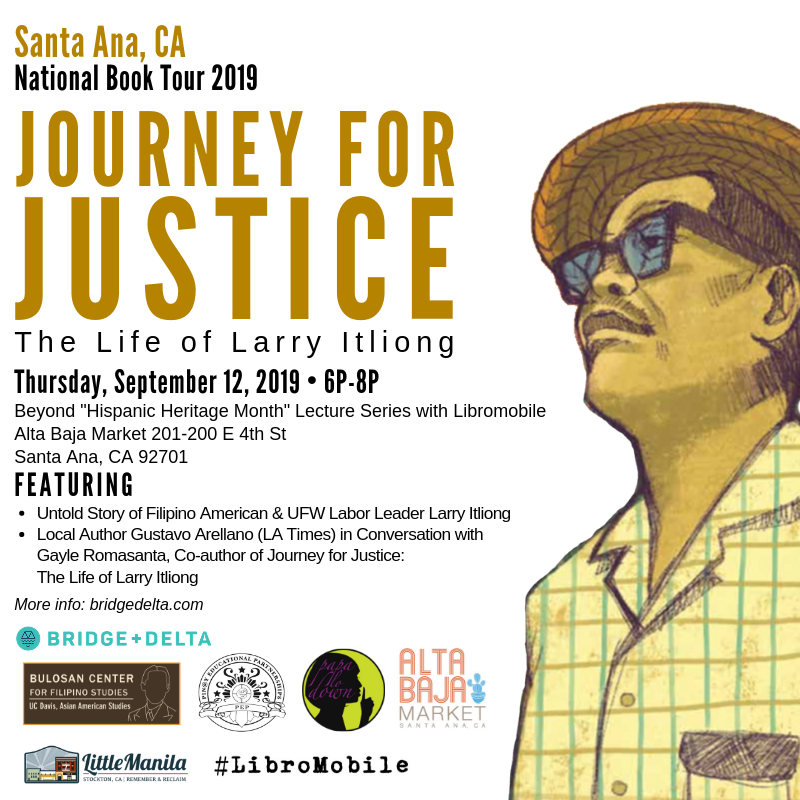 """First tour stop in Santa Ana, 9/12: Beyond Hispanic Heritage Month"""" Lecture Series with LibroMobile ."""