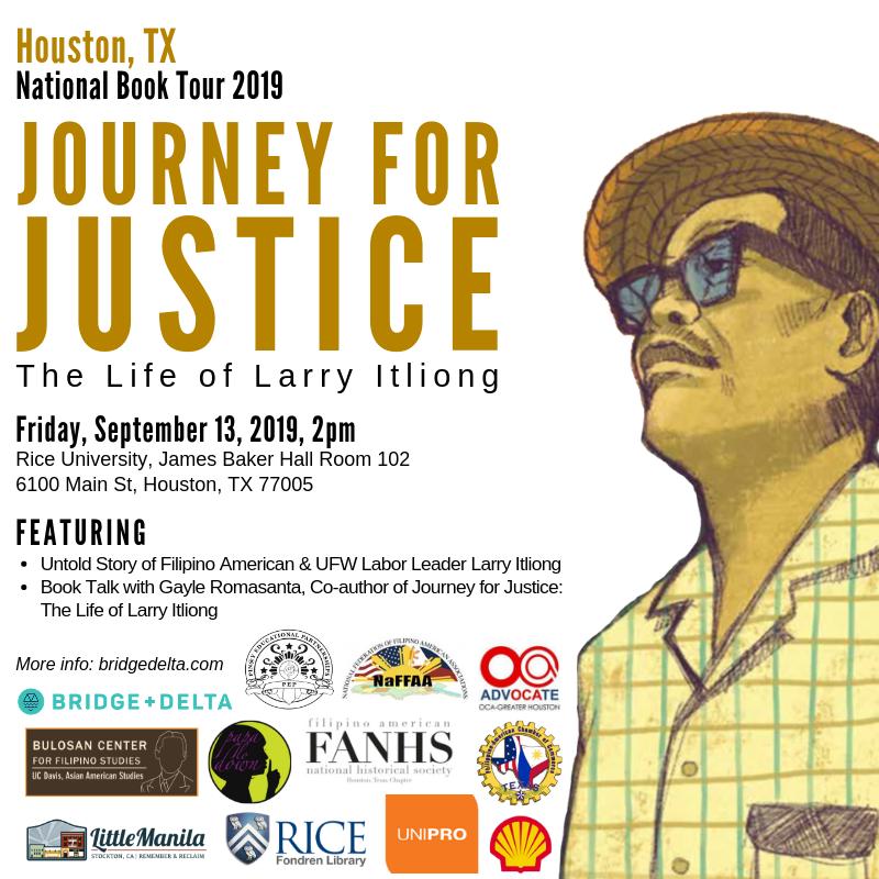 Tour stop in Houston, TX, 9/13 at Rice University.
