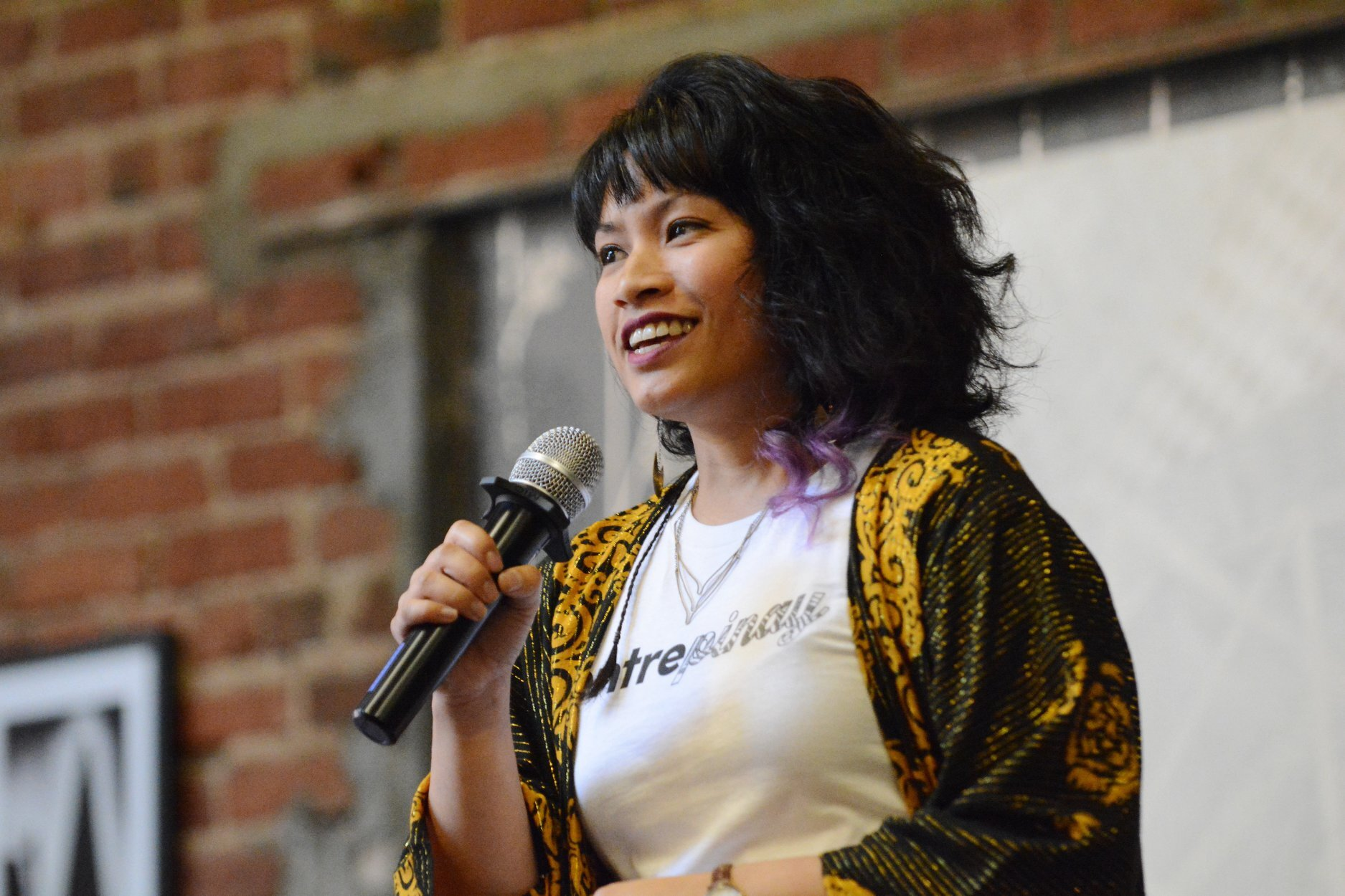 Gina Mariko Rosales, Founder of Entrepinay Summit and Make It Mariko event planning. Photo credit Cha Nicholas, from the 2018 summit.