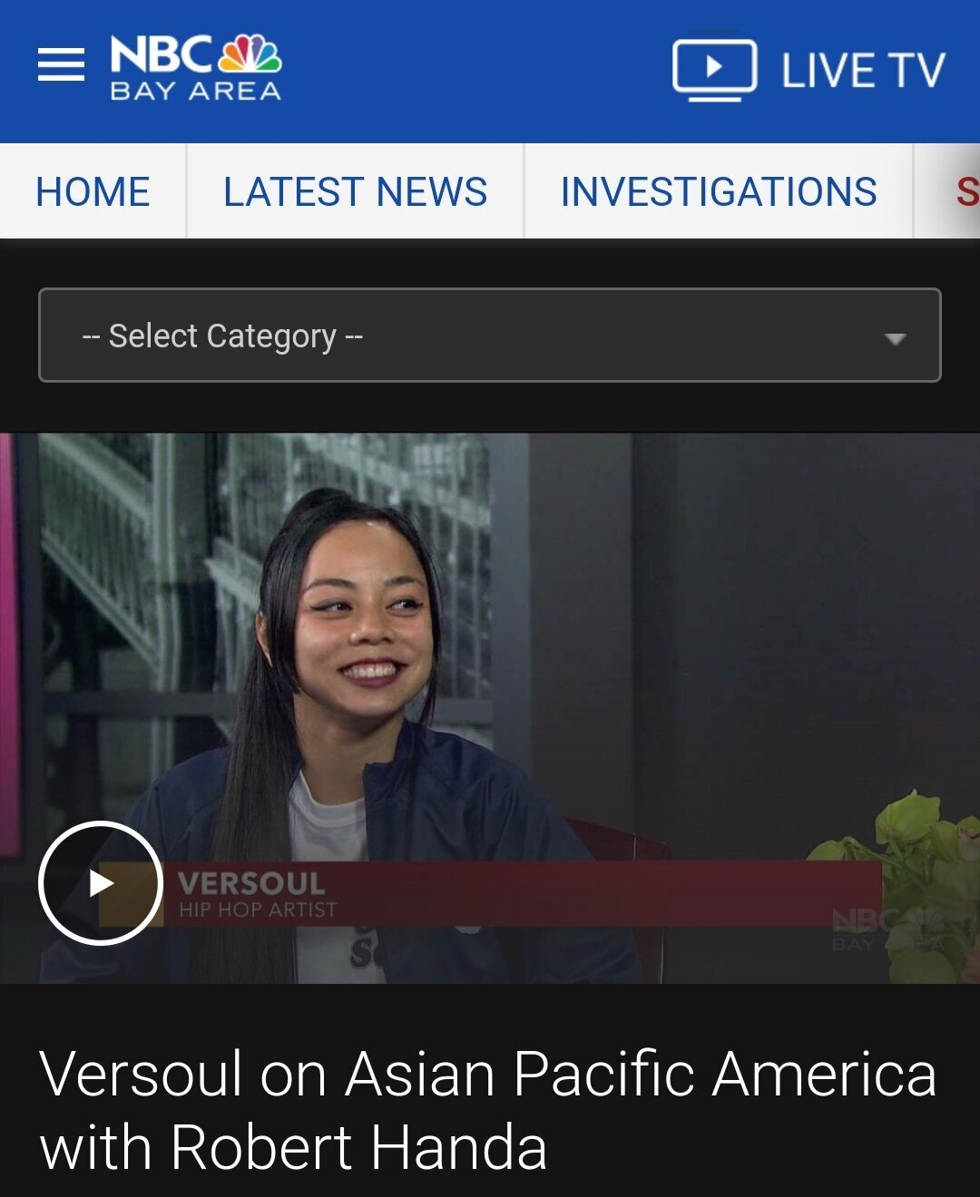 Versoul on NBC Asian Pacific America