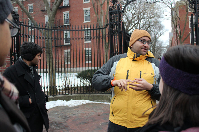 That's Bhargav in the yellow jacket. He had some great law school horror stories that were a lot of fun to listen to.