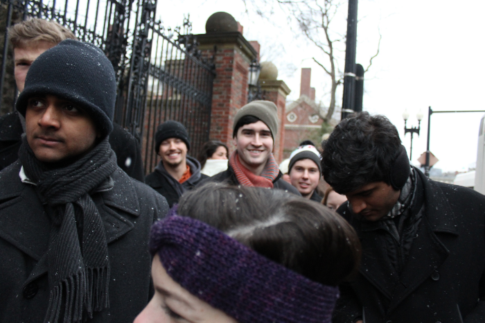 Ridiculously photogenic Ben in the middle of a crowd.