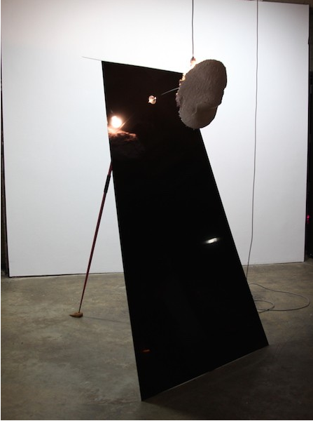 """Work by Sarah Anderson at the exhibition """"Conspiracies are Things"""", Abrons Center, NY, 2016"""