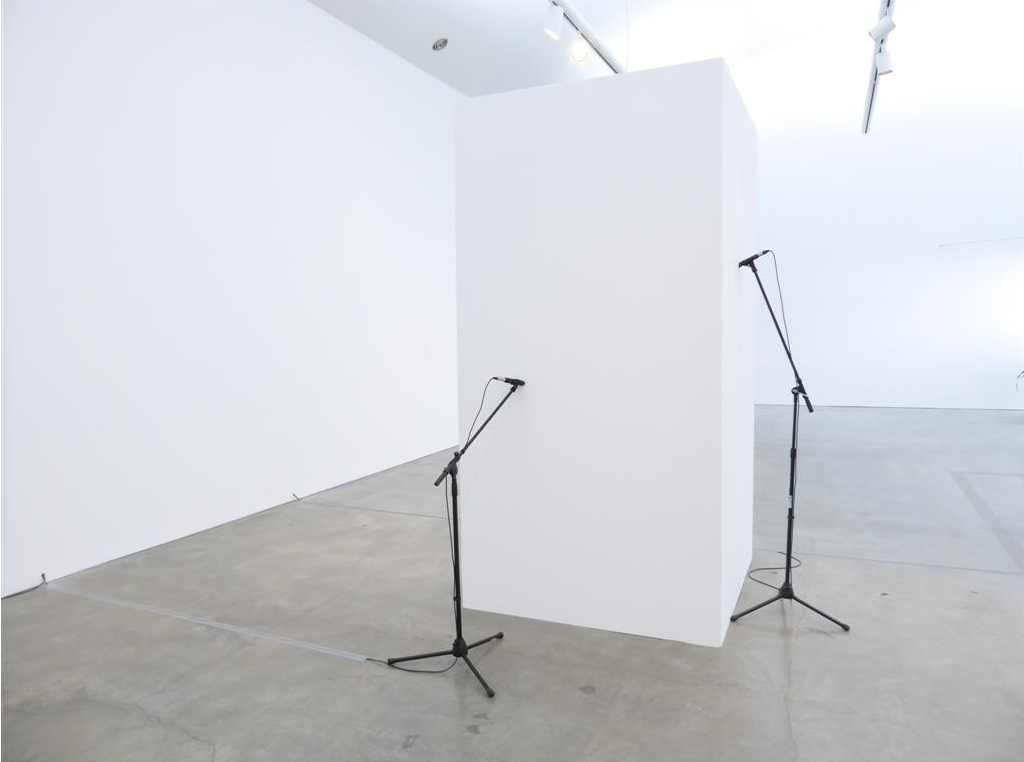 """Work by Naama Tsabar at the exhibition """"Point of Contact"""" curated by Acarín at Center for Curatorial Studies, Bard College, NY, 2015 featuring works by: Gordon Hall, Martin Roth, Naama Tsabar, and Pedro Wirz"""