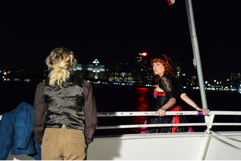 Shoot on a Hornblower Cruise in New York, 2015- Photo by Alejandro Moreno, Francisca Molina, Joe Bochinsky, Audra Woloweik
