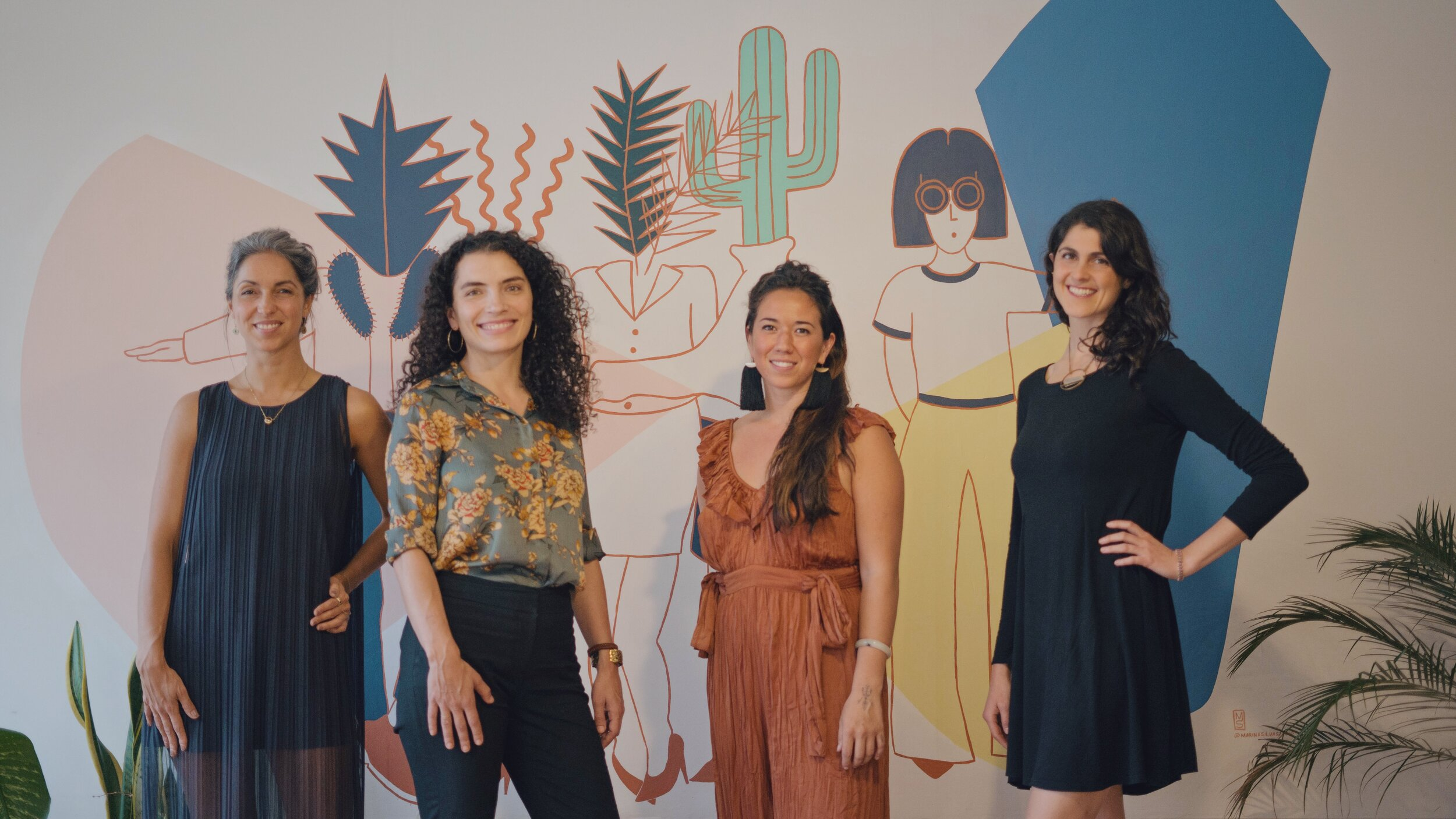 Mari Sierra, Sadie Kaufman, Ting Kelly & Mariana Quiroga at MIA-CoGrowing, a female-led co-working space in Mexico City
