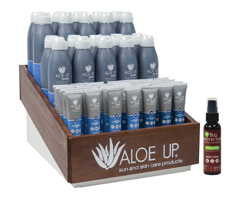 Prepack #GP456 - QTY: 12 Sport SPF 30 Spray 6ozQTY: 12 Sport SPF 50 Spray 6ozQTY: 36 Sport SPF 30 Lotion 1ozQTY: 36 Sport SPF 50 Lotion 1ozQTY: 24 Bug Protector 2ozQTY: 1 Counter Top DisplayWholesale Cost: $456.00