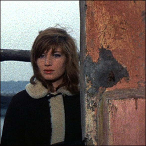 Monica Vitti and peeling paint.
