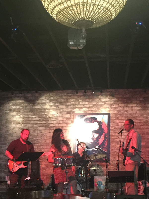 Becky Moon {vocals, percussion} and David Brown {vocals, bass guitar} played with Amanda Johnson {vocals, acoustic guitar}, Rick Musallam {electric guitar}, and Brian Griffin {vocals, drums}.