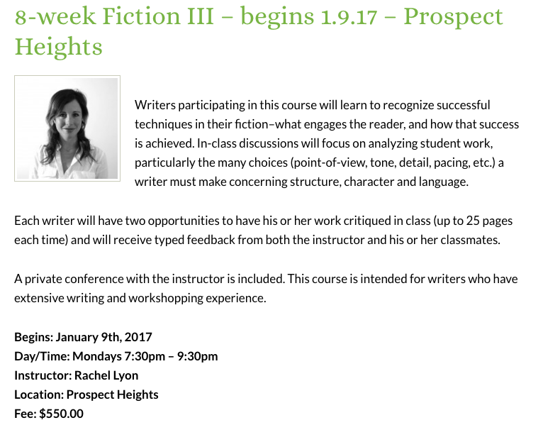 Sackett Street Writers Workshop