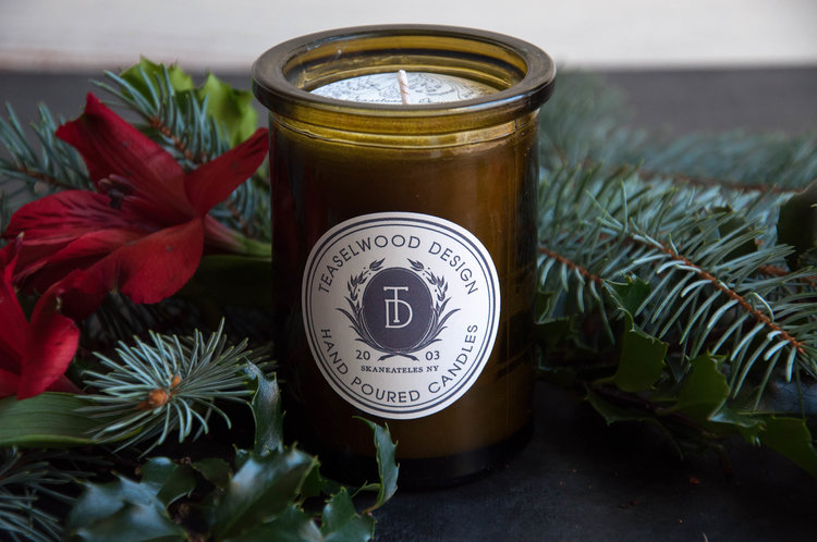 Everyone loves a great candle! Ours come in 4 cozy scents:  Christmas Orange, Holiday at the Cape, Highland Forest, and Winterwoods