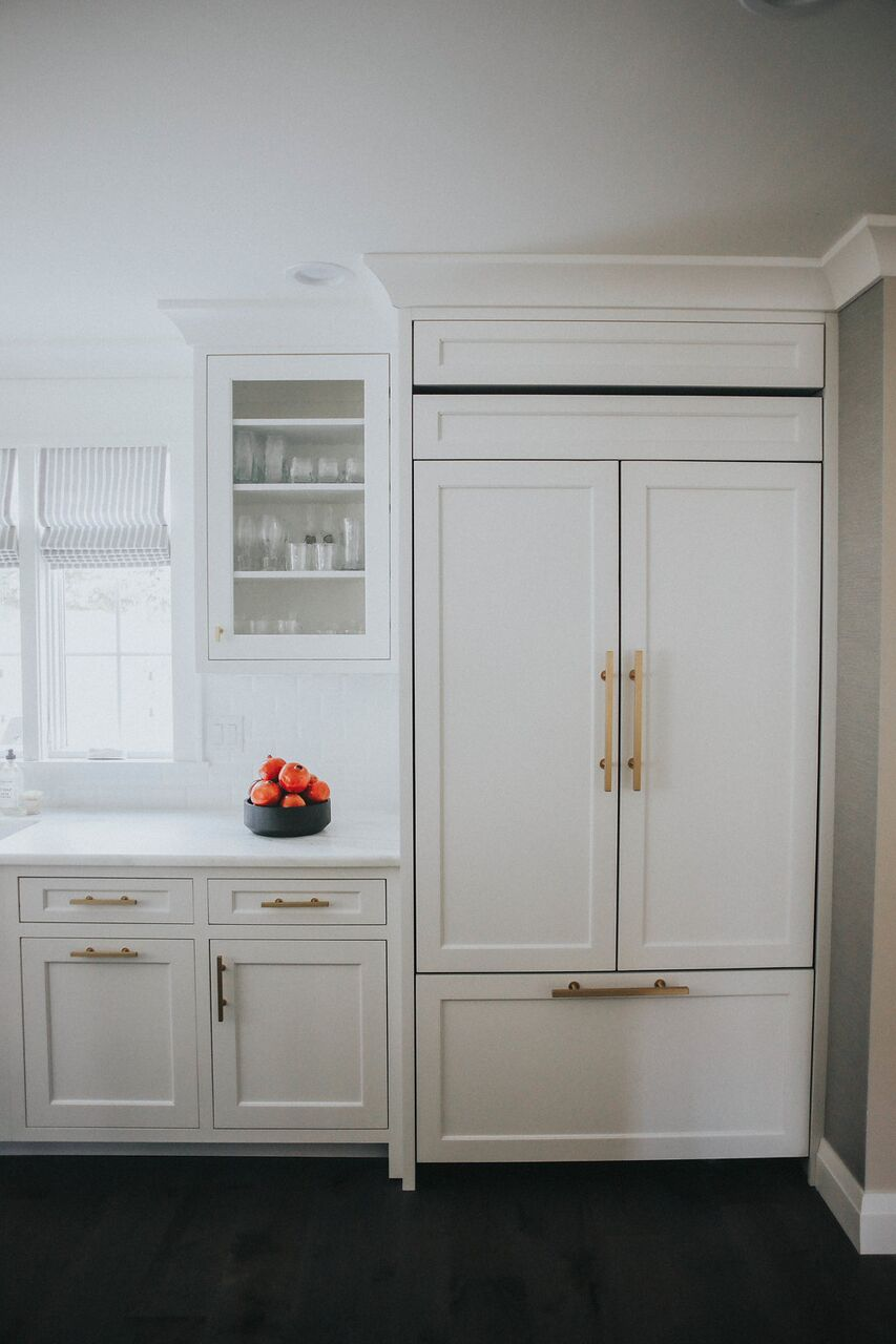 Kitchen built in fridge