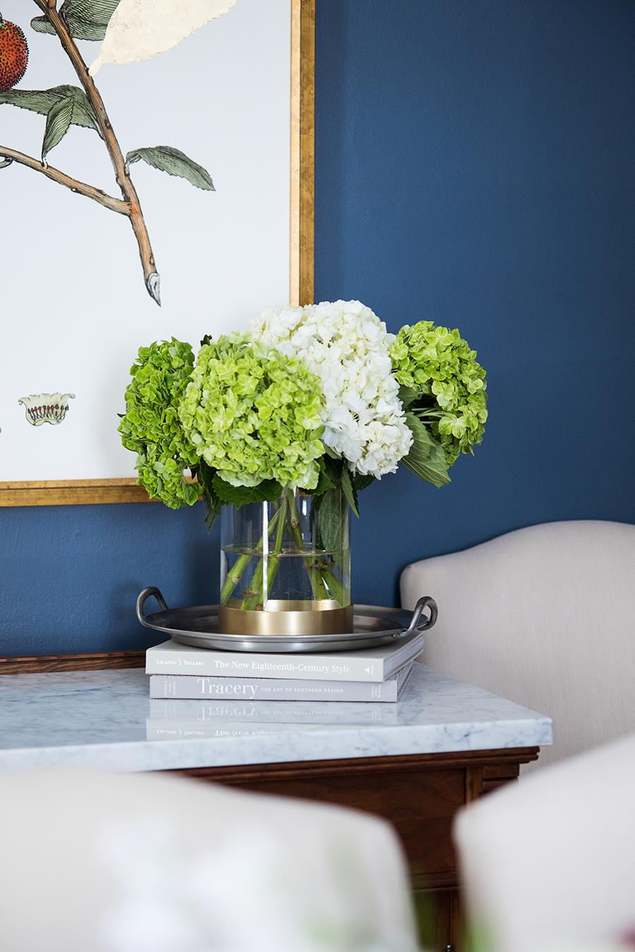Hydrangeas arrangement