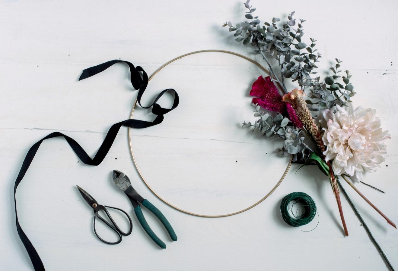 Diy fall wreath by Skaneateles-Interior-Designer -teaselwood-Design