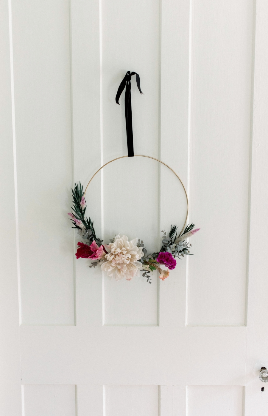 Diy fall wreath by Skaneateles Interior Designer Teaselwood Design