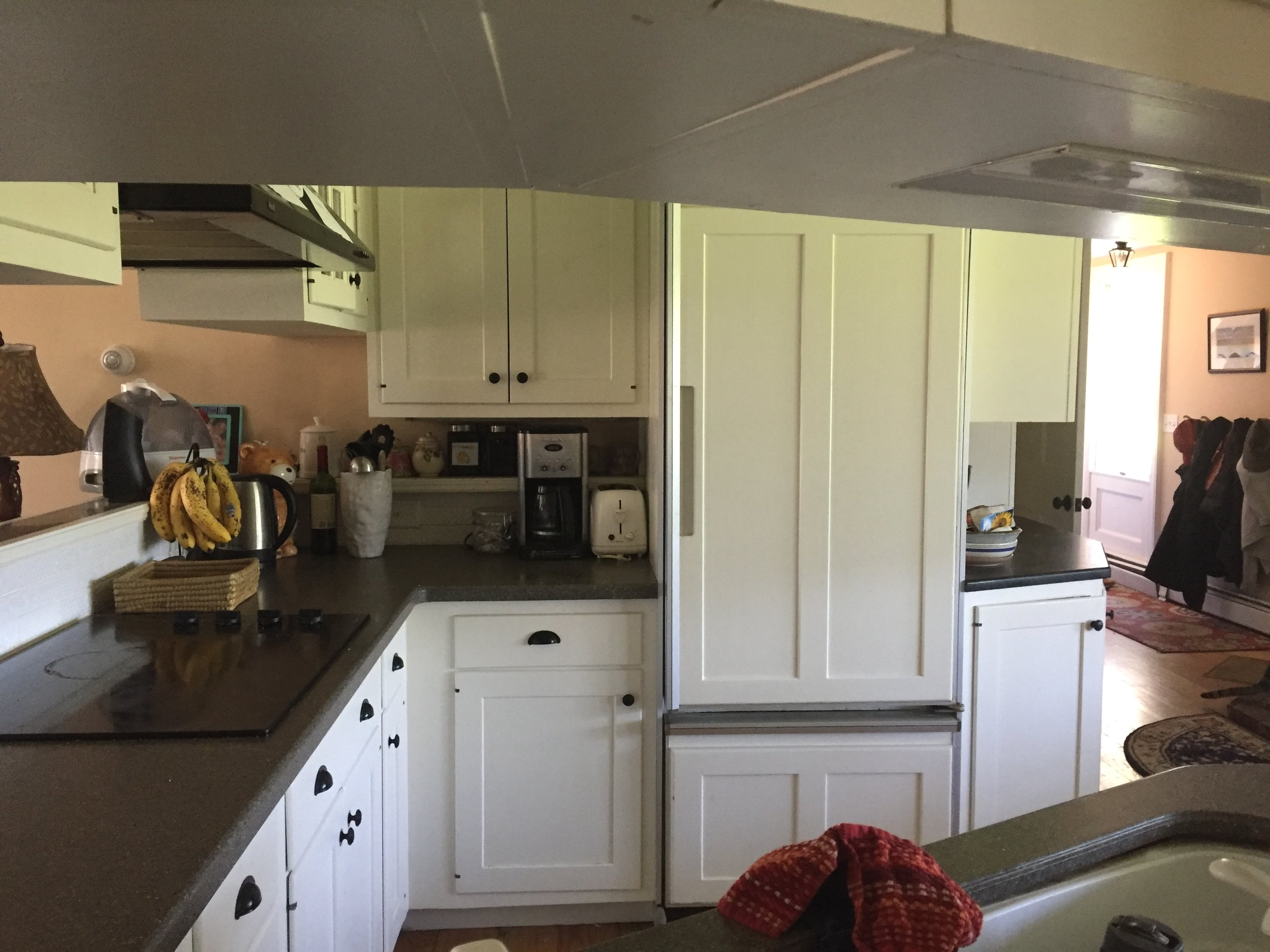 Before and After White Farmhouse Kitchen Skaneateles Interior Designer