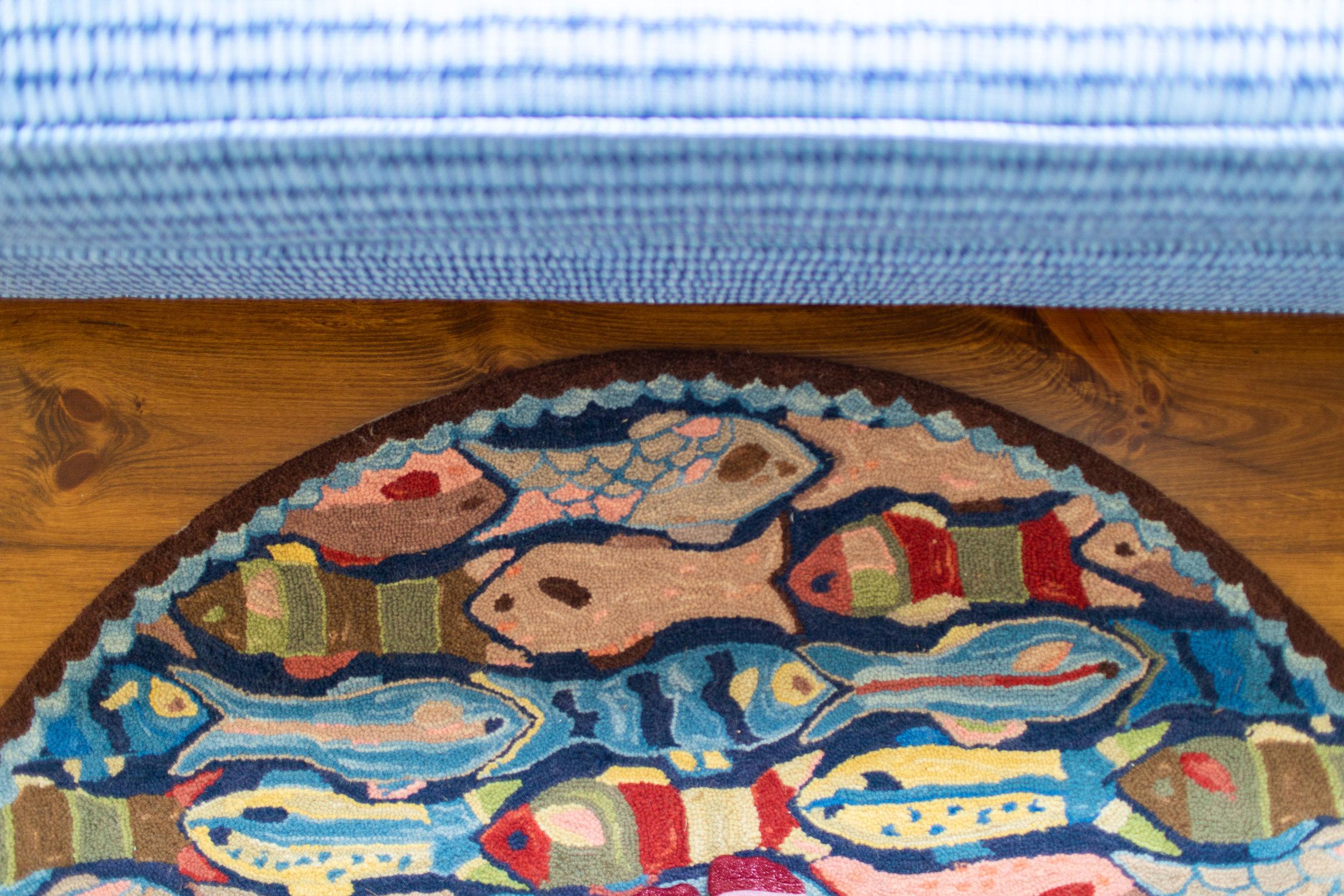 Lake house area rug, Teaselwood Design