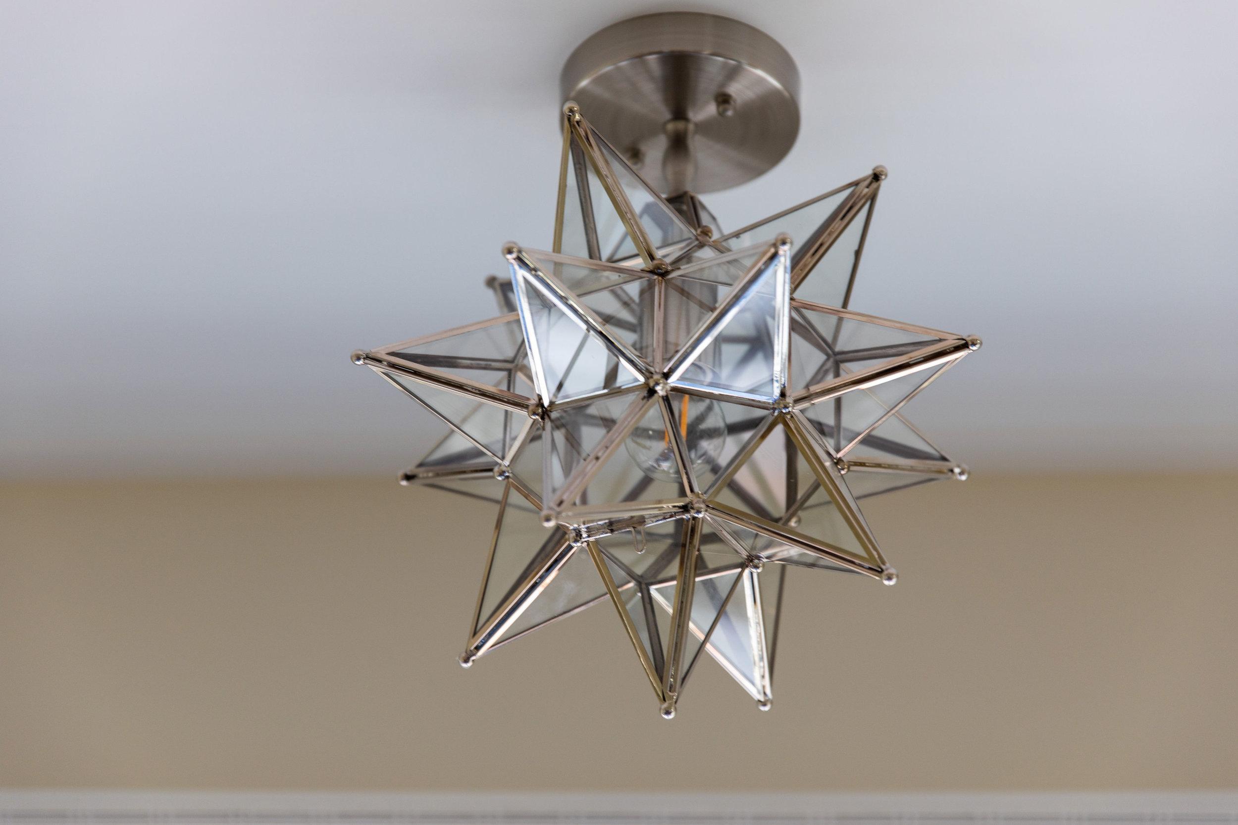Flushmount lighting for small house interior design, Teaselwood Design, Skaneateles, NY