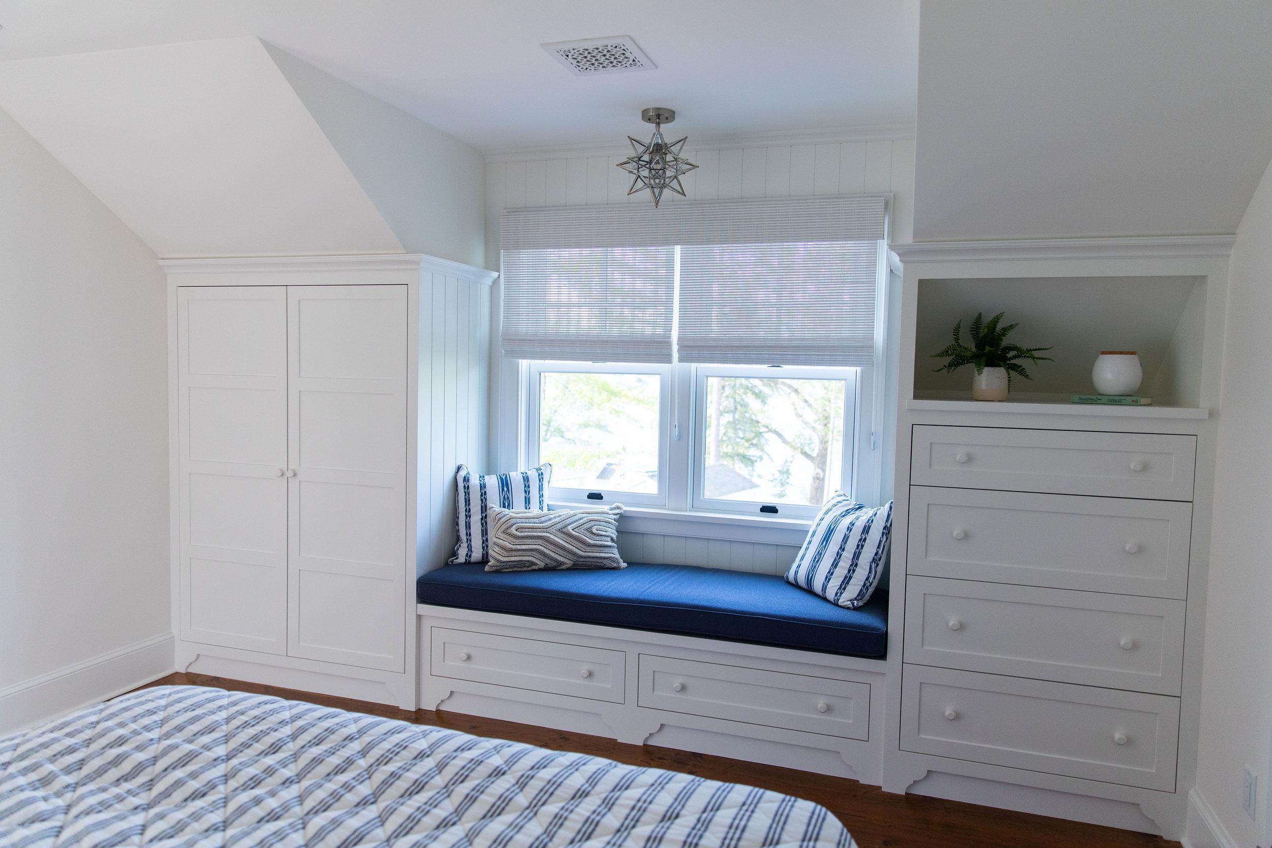 Cottage Bedroom built in storage Ludlow Vt