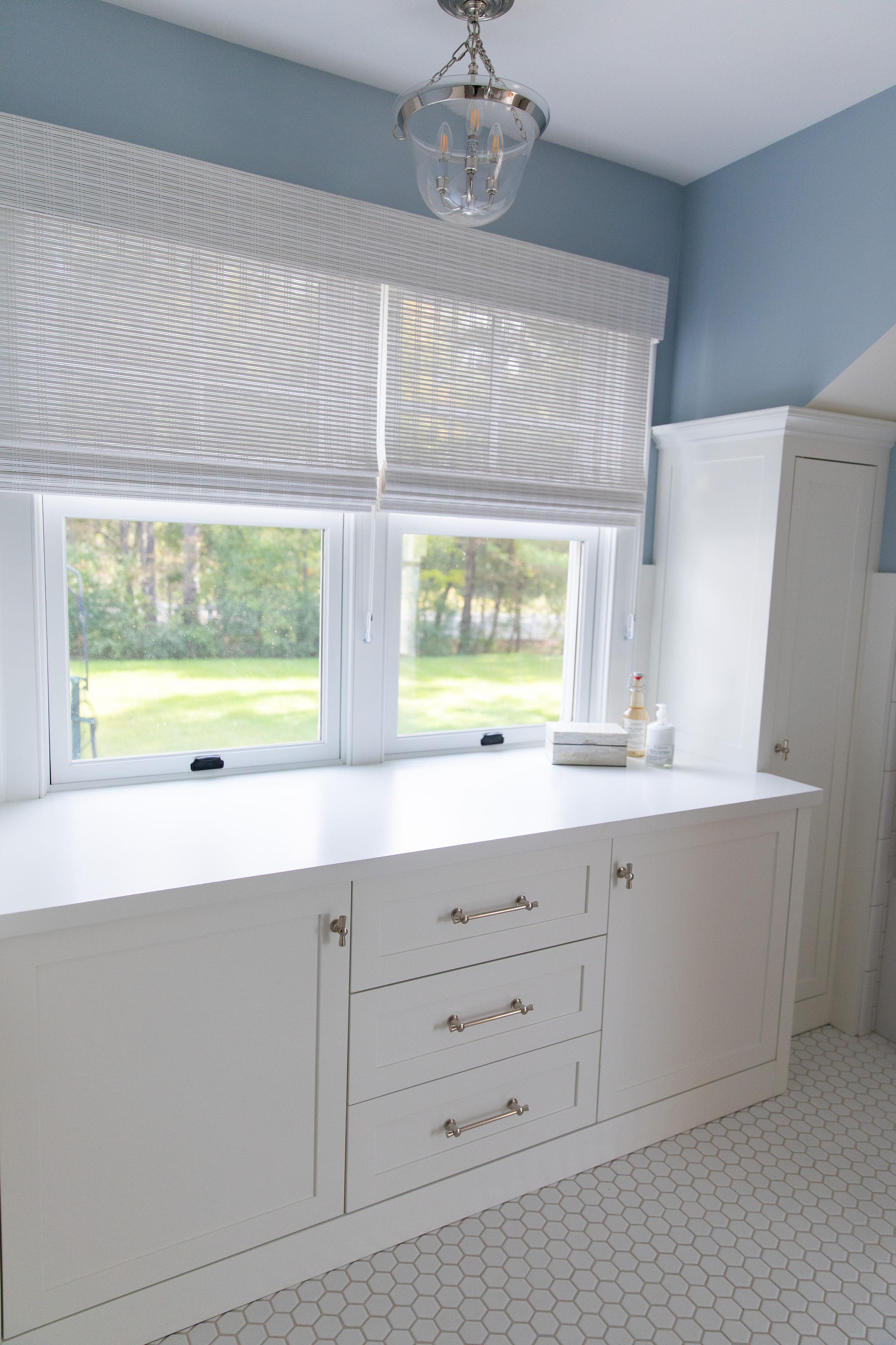 Bathroom Storage Ideas in cottage Ludlow Vermont