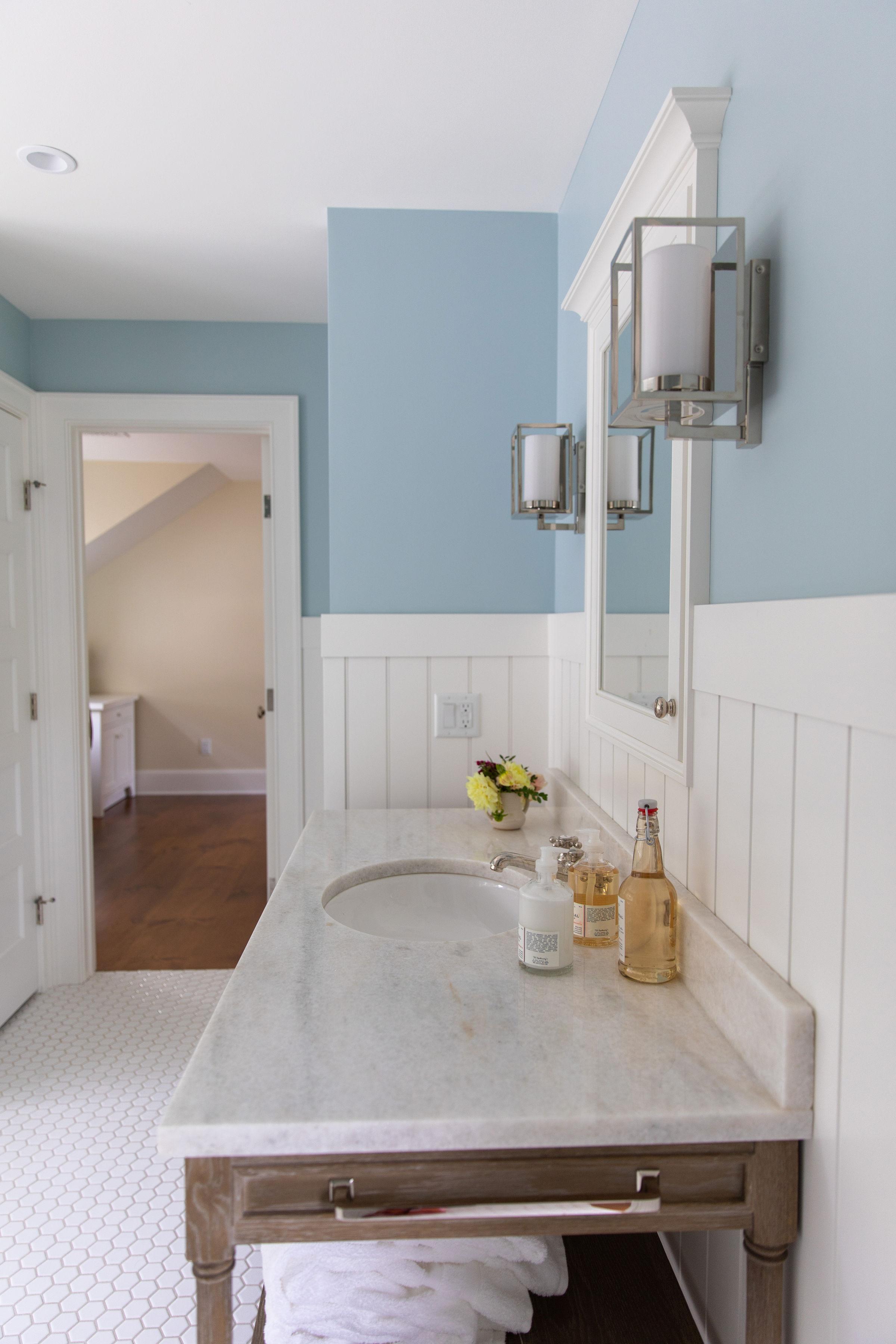 Bathroom Renovation design vanity and bathroom lighting sconces Skaneateles NY