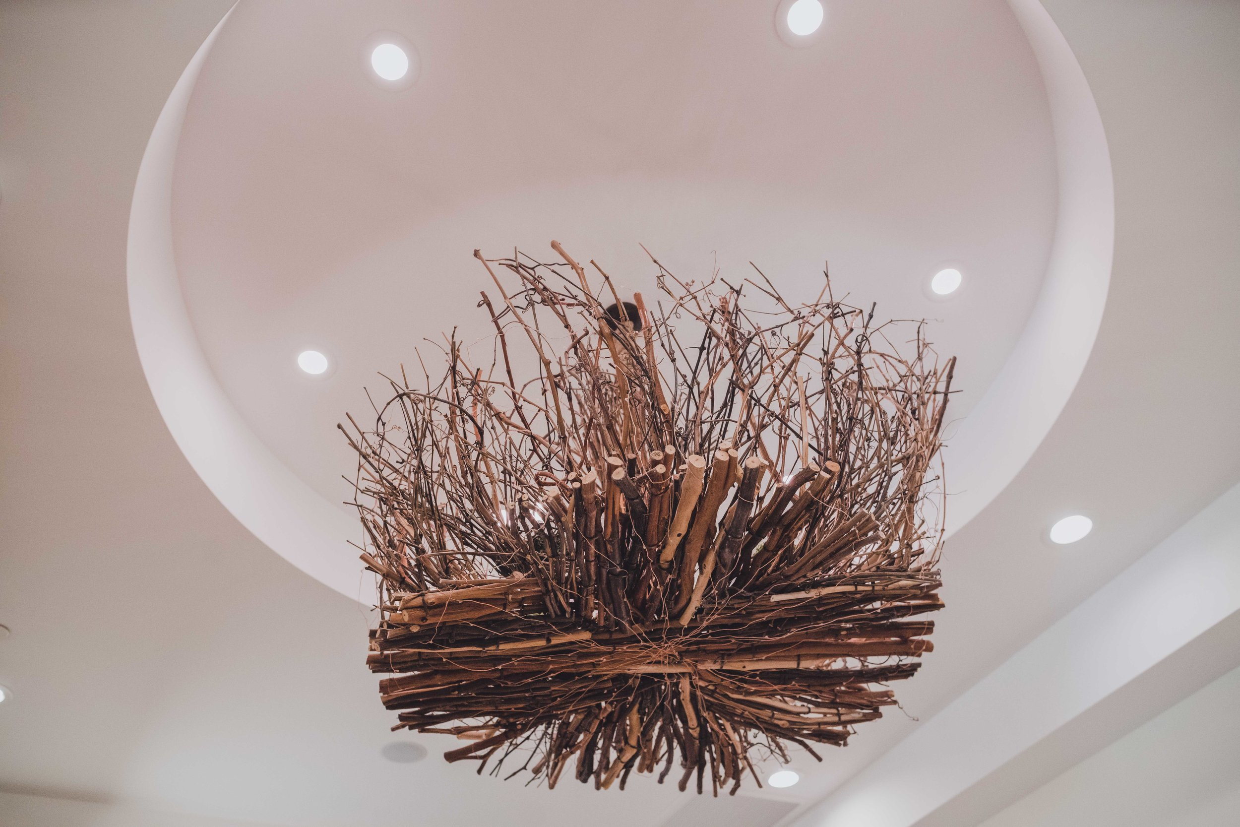 Twig Chandelier in Quit Room