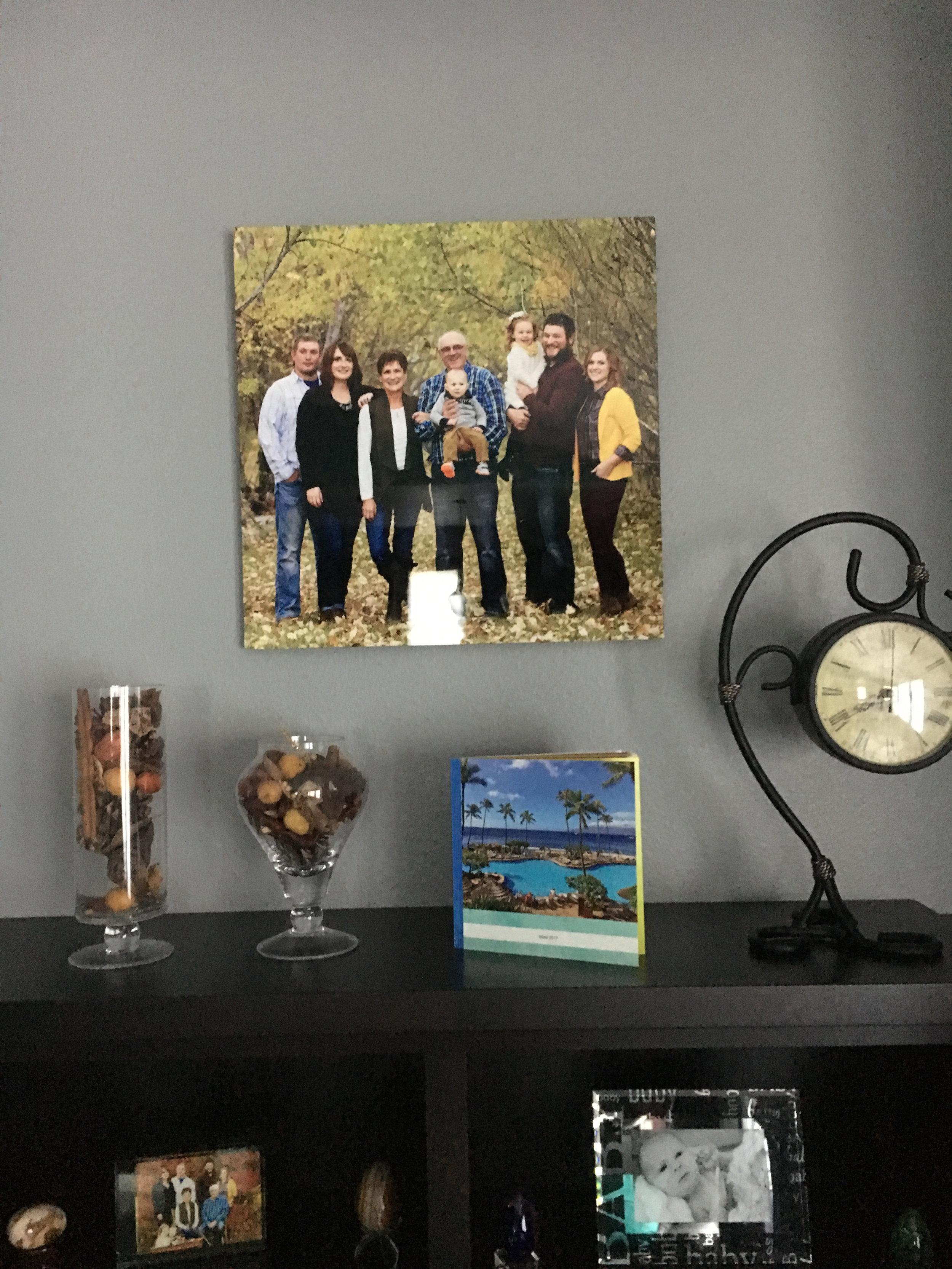 Sleek Metal Print in a client's home. -