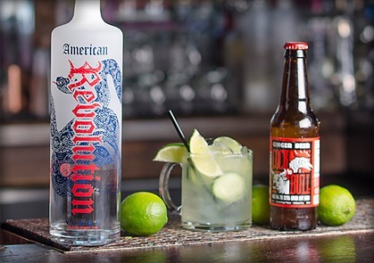 We know we've posted this one before... but who doesn't love to kick off their weekend with an #americanmule?! #Revvodka #gingerbeer #Summer #DrinkResponsibly
