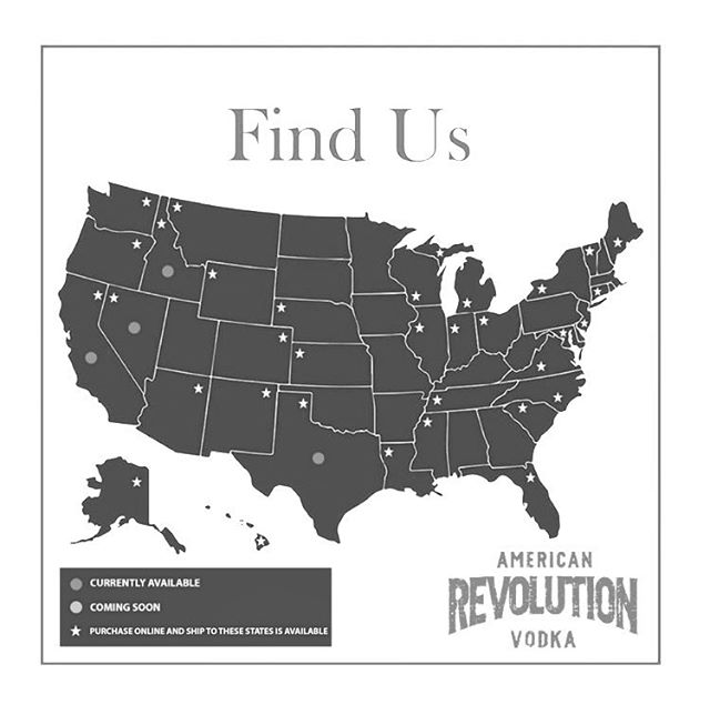 Are you wondering where you can find #RevVodka? Head on over to our website for a full list -- link in bio.  #DrinkResponsibly #Vodka #RevVodka #AmericanRevolutionVodka