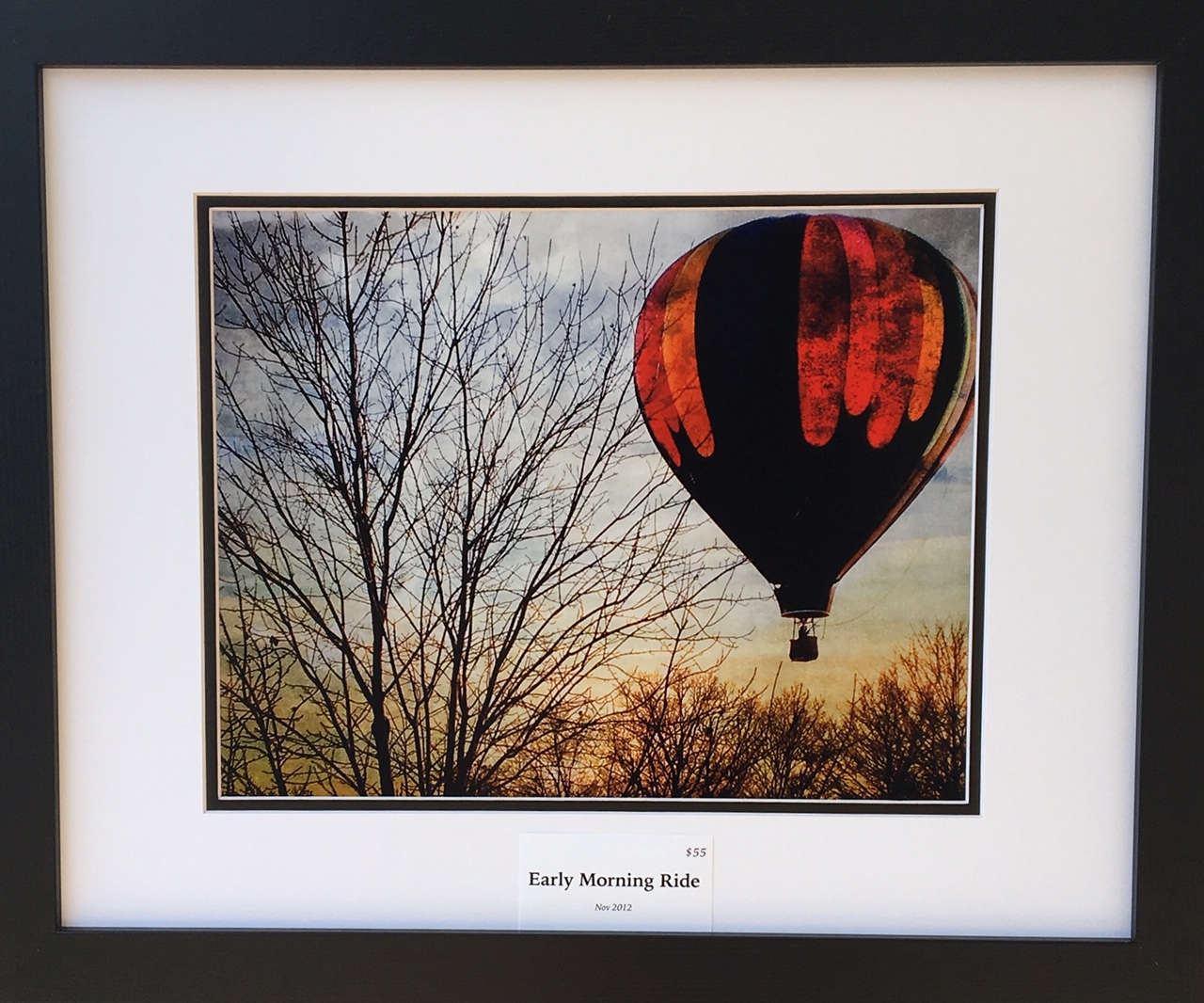 "Kent Smith, KC Photography  ""Early Morning Ride"" Framed print 20X16""  Permission to by Kent Smith"