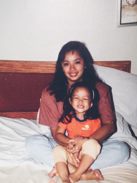 My mom and me; circa 1989.