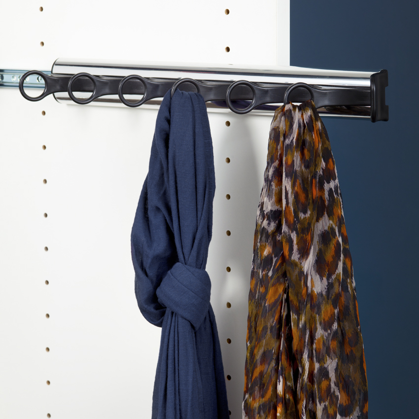 6 Hook Scarf rack with Extension Slide
