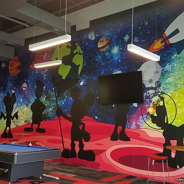 We are psyched at how this graphic we created for one of our client's game rooms turned out as so are they. We worked with the amazing team @acoufelt ! #oneworkplace #acoufelt