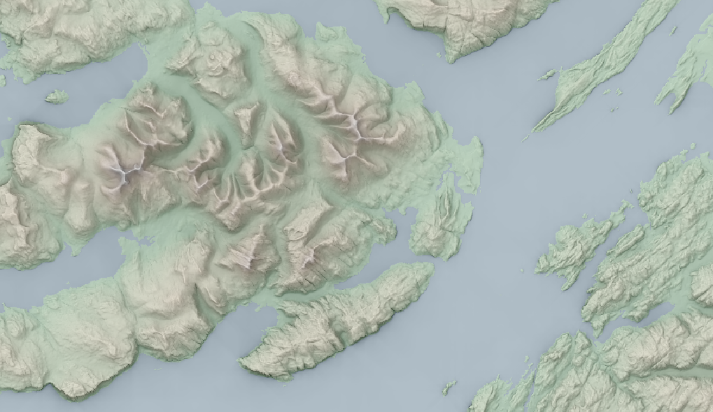 Hillshading with QGIS and SAGA, using topology to accentuate difference between ridges and valleys