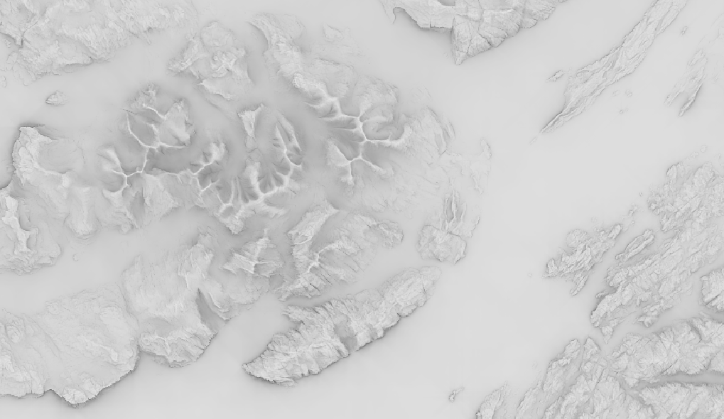 output from SAGA's topographic openness filter
