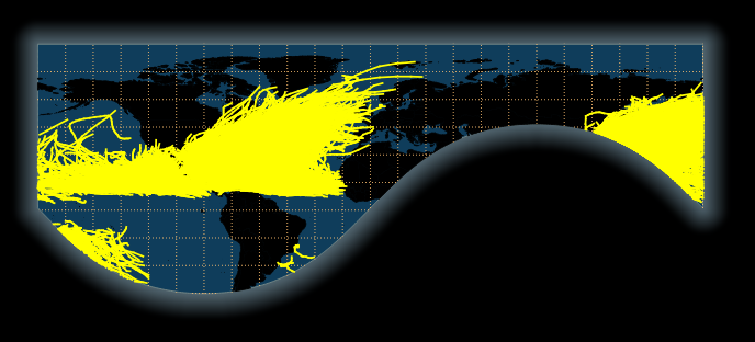 the parts of the earth visible in the ortho projection