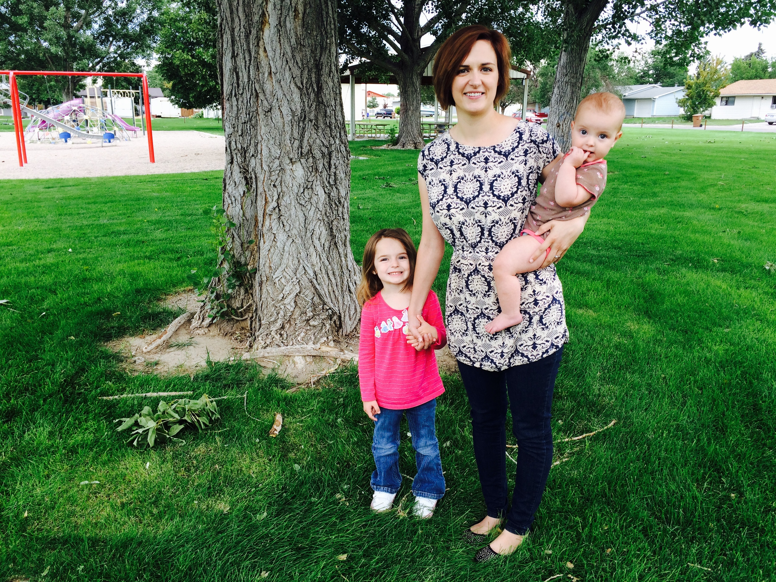 Me with my two sweetgirls, Evelyn and Paisley