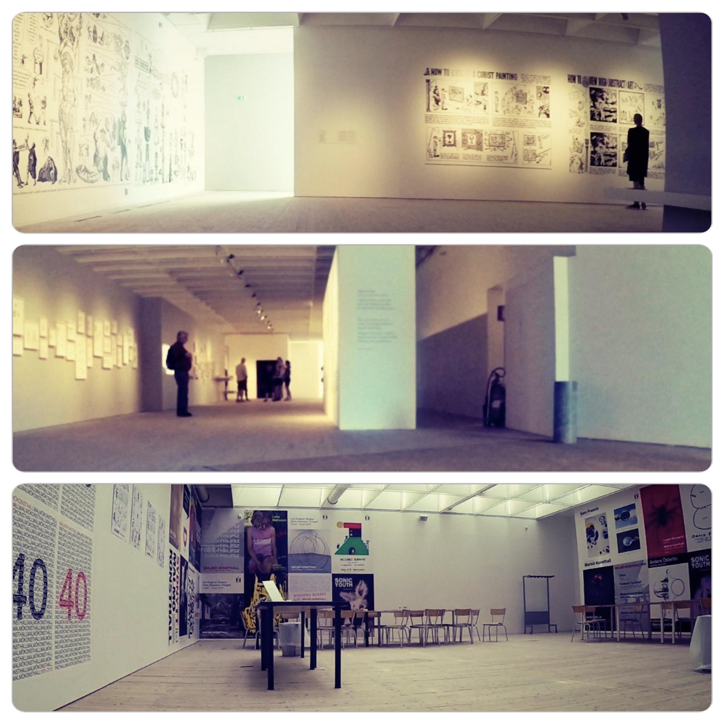 Step-free spacious exhibition halls.